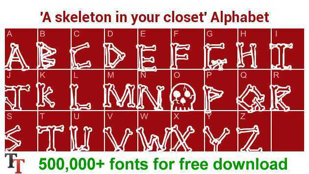 A Skeleton In Your Closet Font