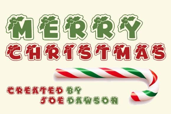 Merry Christmas Holiday Font