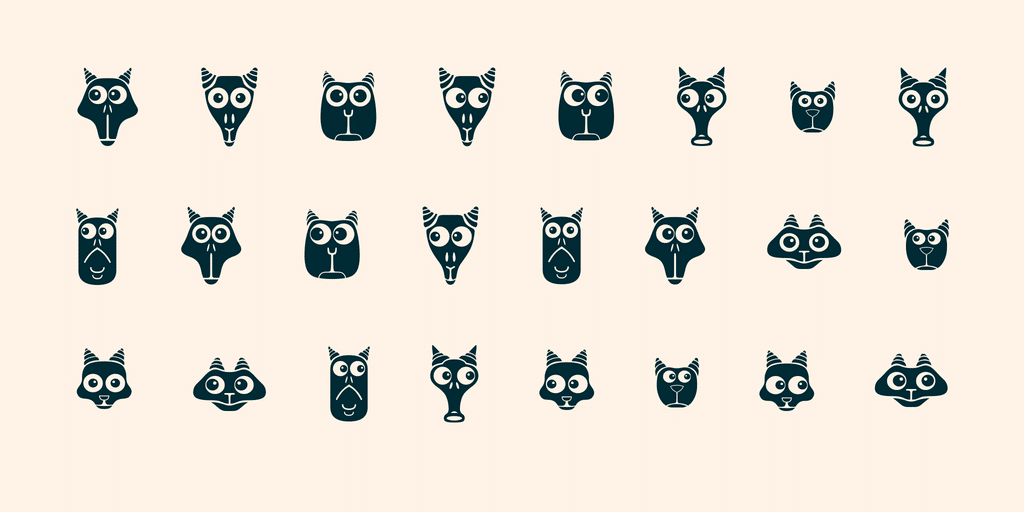 Creatures With Horns Font