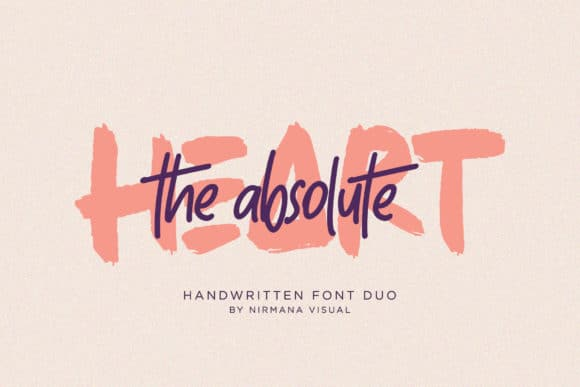 The Absolute Brush Font