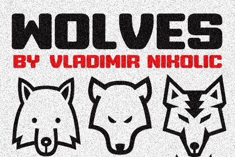Wolves Animals Font