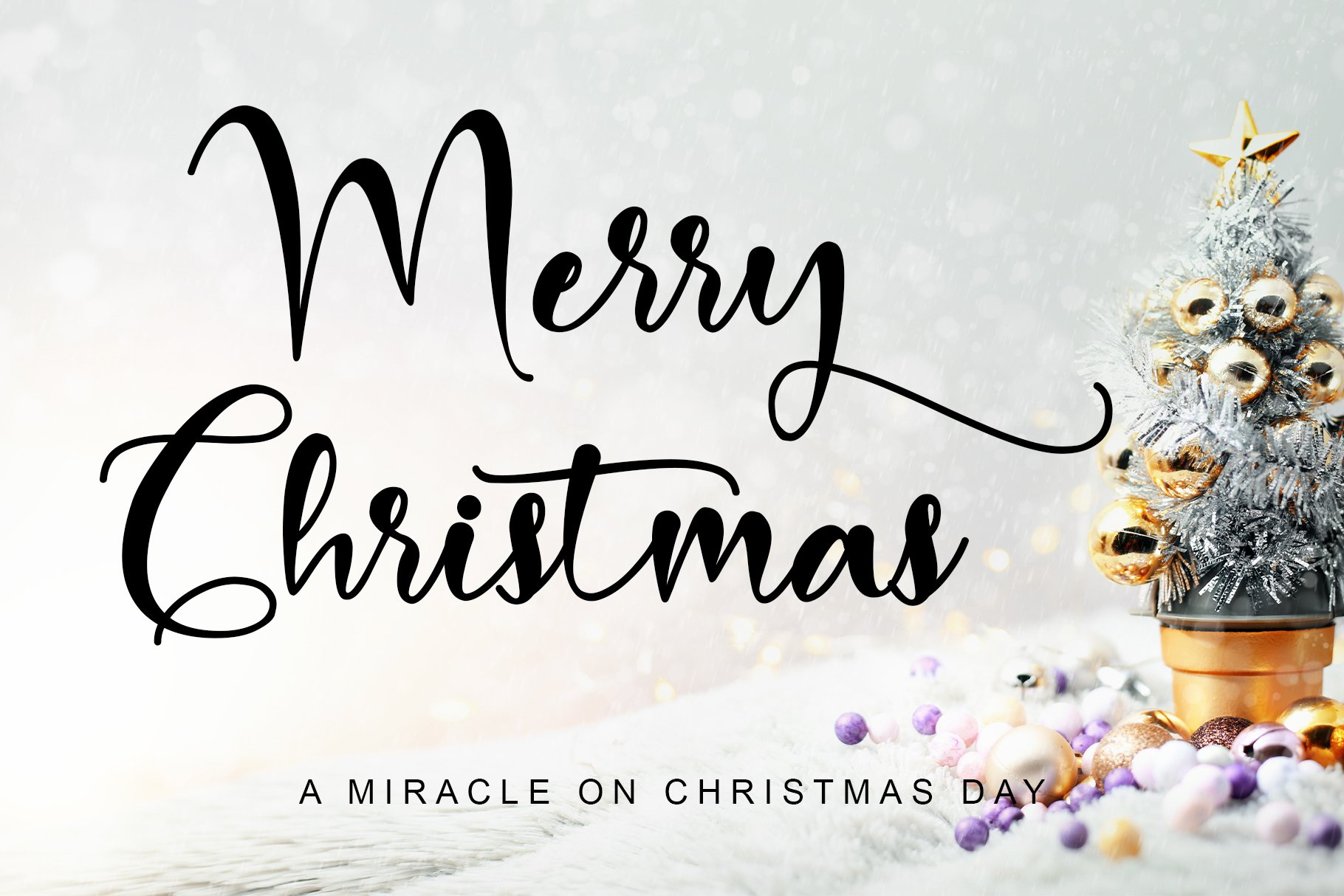 Merry Christmas Calligraphy Font