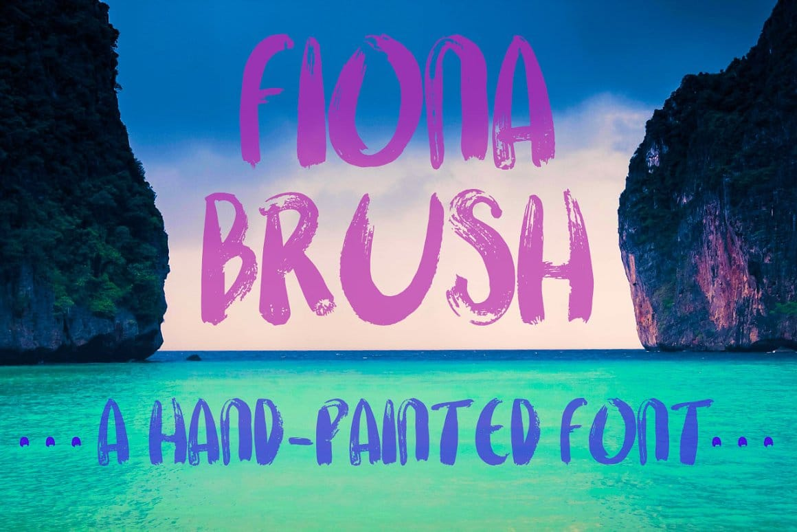 Fiona Brush A Hand Painted Font