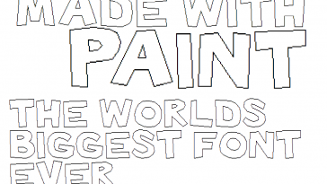 Made with Paint Font