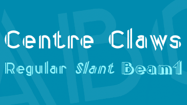 Centre Claws Font