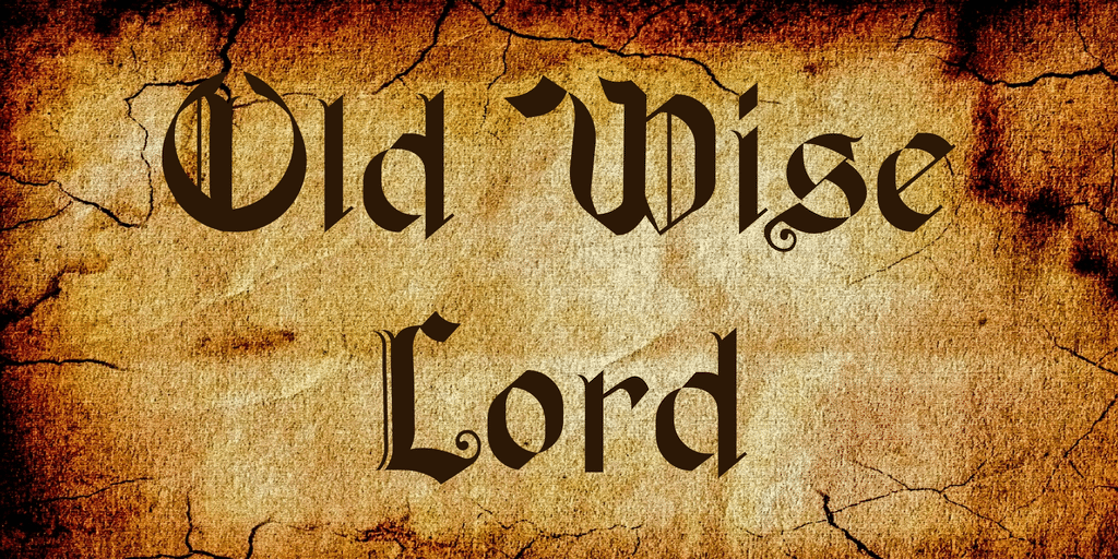 Old Wise Lord Font