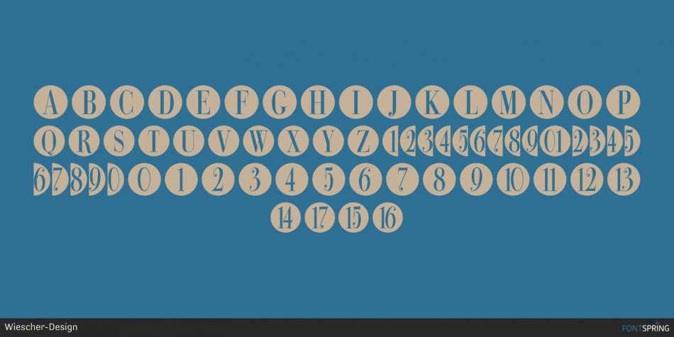 Bullet Numbers Font