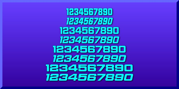 Sport Numbers Font