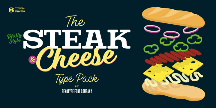 Steak And Cheese Font