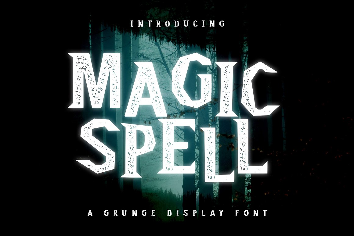 Magic Spell Magical Grunge Display Font