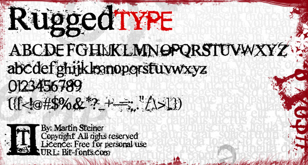 Rugged Type Font Rugged Font
