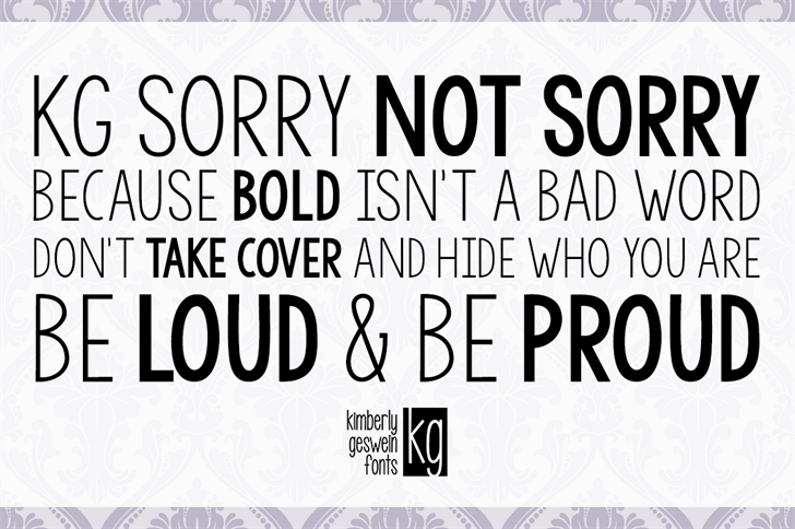Kg Sorry Not Sorry Font