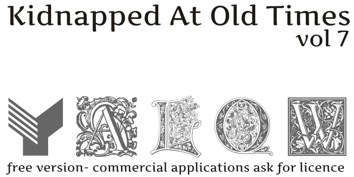 Kidnapped At Old Times Font
