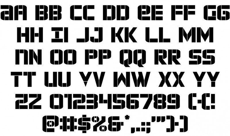 Force Commander Font 2