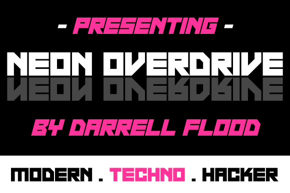 Neon Overdrive Font 1