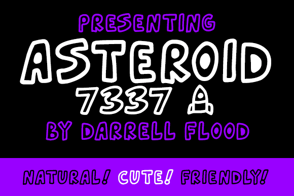 Asteroid 7337 Font 1