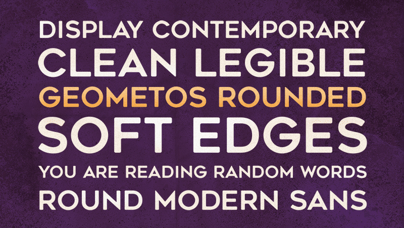 Geometos Rounded Font