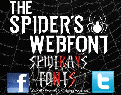 the spiders webfont font