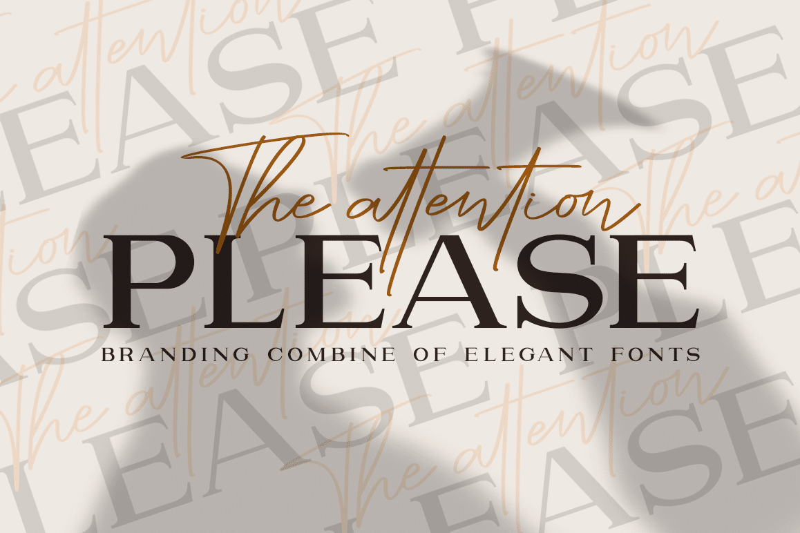 Attention Font Duo