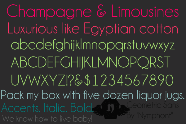 Champagne Limousines Font Family