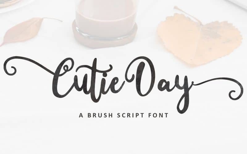 Cutie Day Calligraphy Font