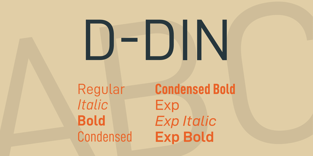 D DIN Font Family Down Free
