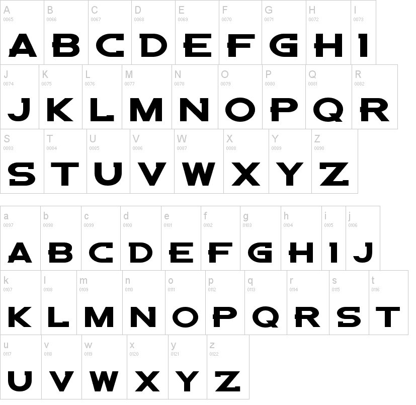 Denver Bronco Custom Font