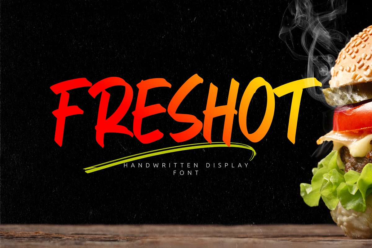 FresHot Handwritten Display Font