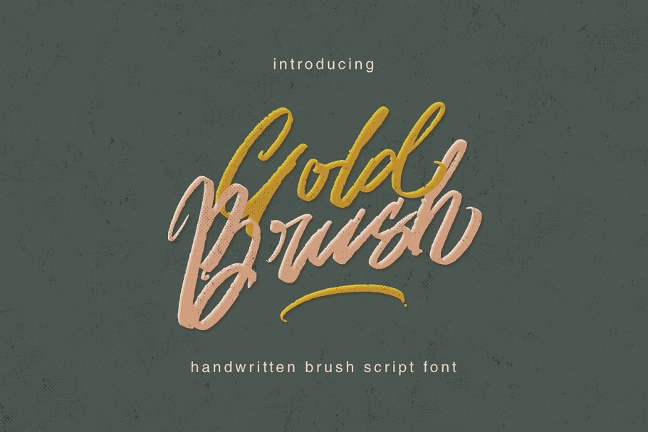 Gold Brush Font