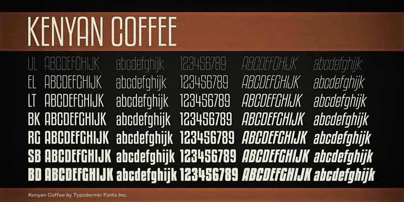 Kenyan Coffee Font Overwatch Font