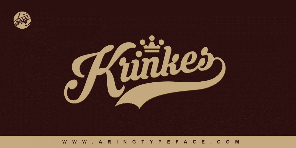 Krinkes Font Baseball Fonts With Tail