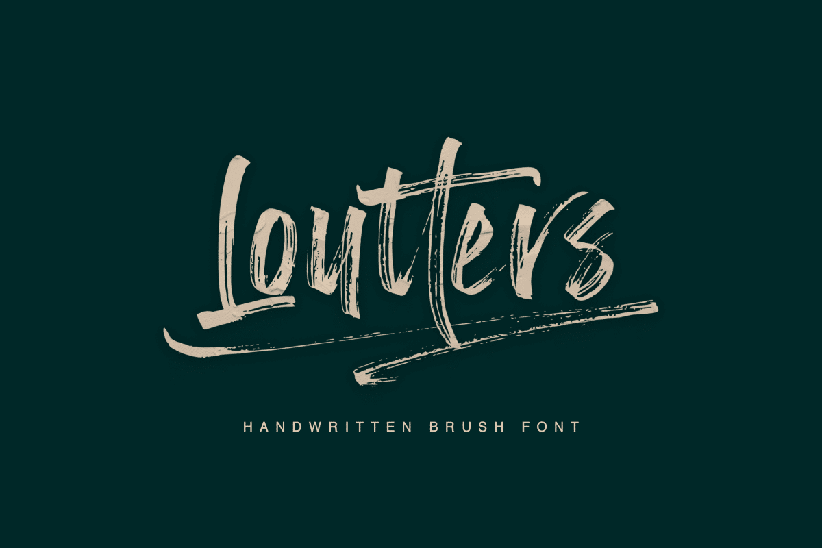 Loutters Handwritten Brush Font