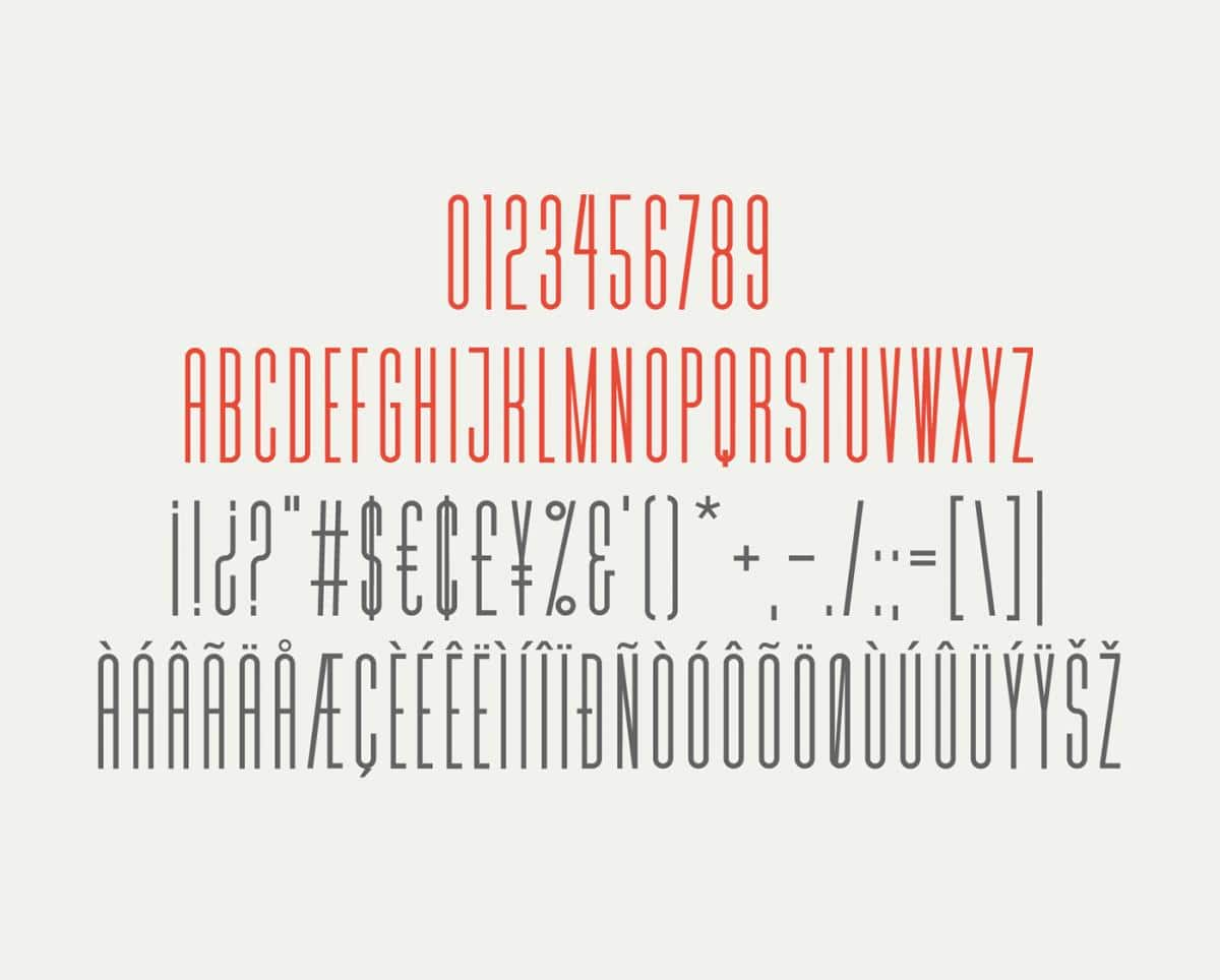 MD Tall Typeface Font