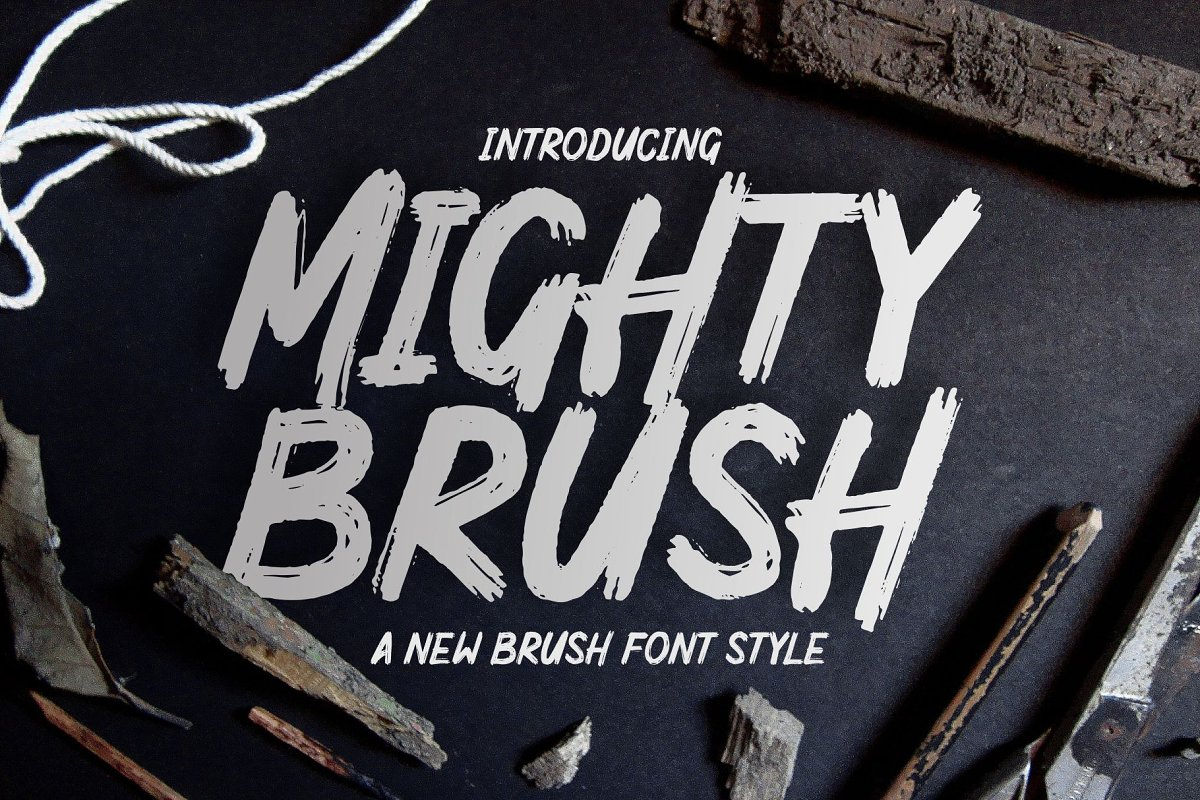 Mighty Brush Font 1