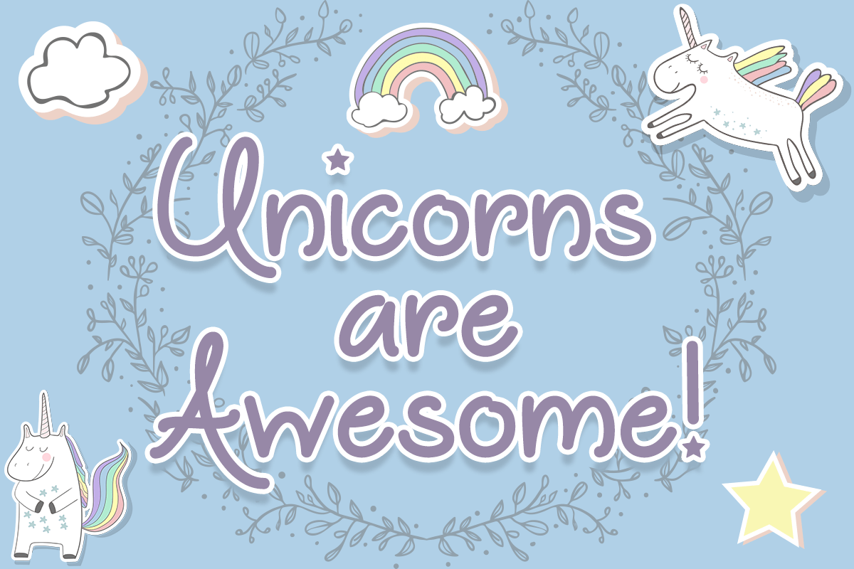 Unicorns are Awesome Font
