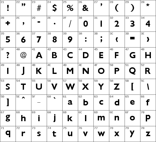 font map chantilly serial